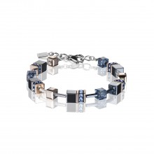 Coeur de Lion 4015/30-0735 Armband GeoCUBE® Montana Swarovski® Kristalle Edelstahl Silber
