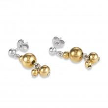 Coeur de Lion 4983/21-1617 Ohrringe Damen Kugeln Edelstahl Gold-Silber