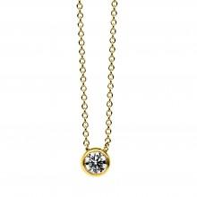 Diamond Group 4B666G Collier Halskette Zarge Brillant 0,20 ct 14 kt 585/- GG