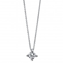 Diamond Group 4D271W4 Halskette-Anhänger Brillant 0,20 ct TW-si 14 kt Gold