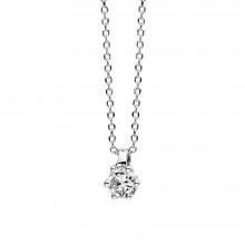 Diamond Group 4D278W4 Halskette-Anhänger Brillant 0,10 ct TW-si 14 kt Gold