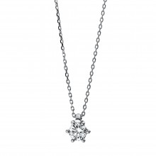 Diamond Group 4D280W4 Halskette-Anhänger Brillant 0,20 ct TW-si 14 kt Gold