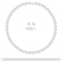 Swarovski 5367853 Armband, Collier & Ohrstecker Angelic All-Around Set, weiss, rhodiniert
