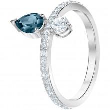 Swarovski Ring Damen Vintage Blau Silber-Ton