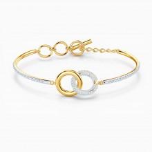Swarovski 5523950 Armreif Damen Stone Weiss Gold-Ton
