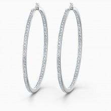 Swarovski 5555724 Kreolen Ohrrringe Damen Rare Weiss Silber-Ton