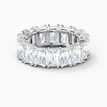 Swarovski Ring Damen Vittore Wide Weiss Silber-Ton