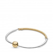 Pandora Shine 568143 Armband Moments Three-Link Bangle Silber-Gold