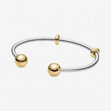 Pandora  568733C00 Armreif Offen Moments Snake Chain Style Silber Gold