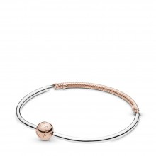 Pandora Rose 588143 Armband Moments Three-Link Bangle Silber
