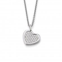 Viventy 778602 Kette Mit Anhänger Herz Zirkonia Silber