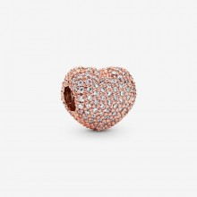 Pandora Rose 781427CZ Clip Charm Damen Pavé-Herz