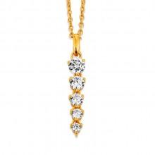Viventy 781832 Kette mit Anhänger Damen Swarovski-Zirkonia Silber Vergoldet