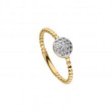 Viventy 782471 Ring Damen Zirkonia Silber Gelbgold Vergoldet Gr. 54