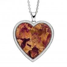 Viventy 783222 Halskette mit Anhänger Herz Rosenblüte Zirkonia Silber
