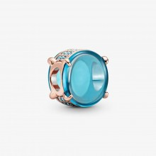 Pandora Rose 789309C01 Charm Damen Cabochon Blaues Ovales
