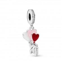 Pandora 798076CZ Charm-Anhänger Heart Balloons Happy Bday Silber