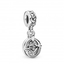 Pandora 798095CZ Charm-Anhänger Knotted Hearts Sterling-Silber