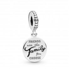 Pandora 798124EN16 Charm-Anhänger Friends are Family Sterling-Silber