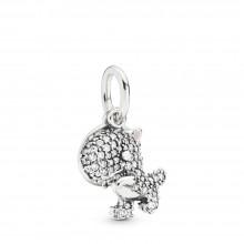 Pandora 798186CZ Charm-Anhänger Pavé Dinosaur Sterling-Silber
