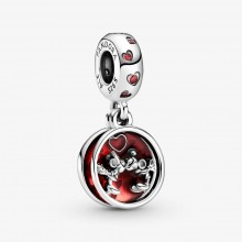Pandora Disney 799298C01Charm-Anhänger Micky Maus & Minnie Maus Liebe Küsse