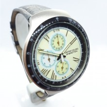United Colors of Benetton 937.0029.30 Armband-Uhr Chronograph Quarz mit Lederband