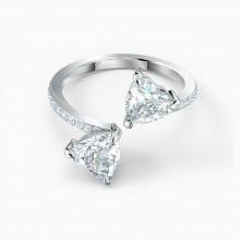 Swarovski Ring Damen Attract Soul Heart Weiss Silber-Ton