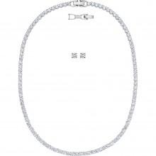 Swarovski 5506861 Set Halskette Armband Tennis Deluxe Weiss Silber-Ton