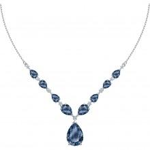 Swarovski 5472614 Kette mit Anhänger Damen Vintage Blau Silber-Ton