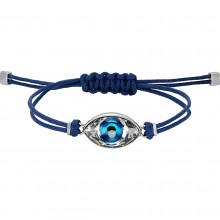 Swarovski 5506865 Armband Damen Power Collection Evil Eye Blau Silber-Ton