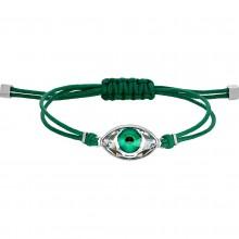 Swarovski 5508535 Armband Damen Power Collection Evil Eye Grün Silber-Ton