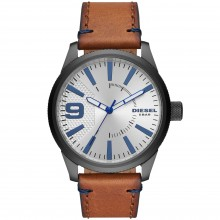 Diesel DZ1905 Herren-Uhr Rasp NSBB Analog Quarz mit Leder-Armband Ø 46 mm