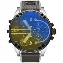 Diesel DZ7429 Herren-Uhr Mr. Daddy 2.0 Mehrwerke Chronograph Quarz mit Nylon-Armband Ø 57 mm