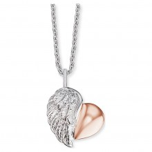 Engelsrufer ERN-LILHEARTWING-BI Kette mit Anhänger Herzflügel Silber Rosé