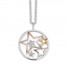 Engelsrufer ERN-STARS-TRICO-ZI Kette mit Anhänger Damen Sterne Tricolor