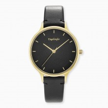 Engelsrufer ERWA-COLOUR-LBK2 Damen-Uhr Colour Analog Quarz Gold Schwarz