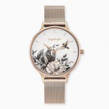 Engelsrufer ERWA-FLOWER1-MR Damen-Uhr Blume Analog Quarz Rosé