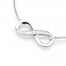 Karat 99011493450 Kette mit Anhänger Unendlichkeit Infinity Silber
