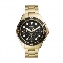 Fossil FS5727 Herren-Uhr FB-03 Chronograph Quarz Edelstahl-Band Gold