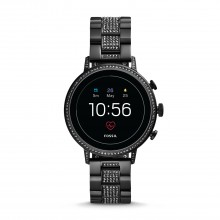 Fossil FTW6023 Smartwatch Damen Q Venture HR 4. Generation mit Edelstahl-Band