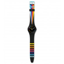 Swatch GB311 Armbanduhr Fountain Of Colors Think Fun Silikon Ø 34 mm