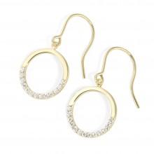 Karat 94022440 Ohrringe Damen Ohrhaken Kreis 375/- Gelb-Gold