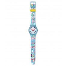 Swatch GS401 Armbanduhr Prikket Quarz Silikon Armband