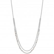Fossil JA6917040 Kette Damen Multi-Colored Gemstone Silber-Ton 42 cm
