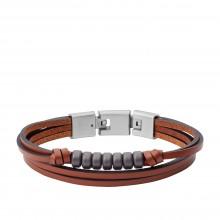 Fossil JF03128040 Armband Herren Multi-Strand Edelstahl 19,5 cm