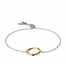 Fossil JF03200998 Armband Damen Twisted Edelstahl Gold-Ton