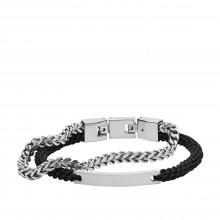 Fossil JF03325040 Armband Herren Double-Strand Nylon Edelstahl
