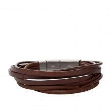 Fossil JF86202040 Armband Herren Vintage Casual Leder Braun