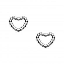 Fossil JFS00457040 Ohrstecker Damen Open Heart Sterling-Silber