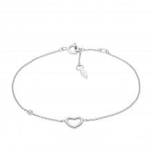 Fossil JFS00458040 Armband Damen Open Heart Sterling-Silber